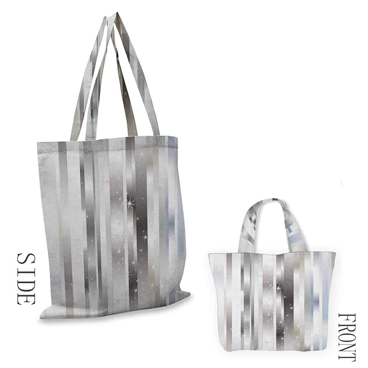 """Tote bag StripesModern Composition with Vertical Color Bands and Vibrant Star Figures Gray Black Pale Blue18""""W x 16""""H"""