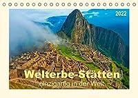 Welterbe-Staetten - einzigartig in der Welt (Tischkalender 2022 DIN A5 quer): Einzigartige Staetten in der Welt mit dem Titel Welterbe, verliehen von der UNESCO. (Monatskalender, 14 Seiten )