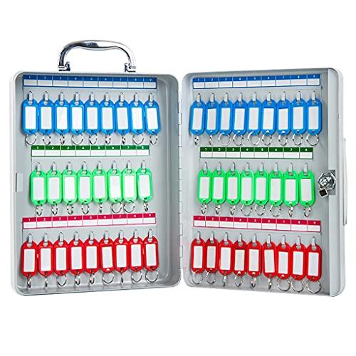 Armarios para llaves Caja De Gestión De Clasificación Portátil Caja De Llaves De 52 bits Caja De Almacenamiento De Llaves Montada En La Pared (Color : Silver, Size : 22.5 * 8 * 29cm)