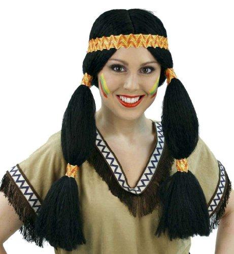 Perücke Indianer Mädchen Cherokee Damen