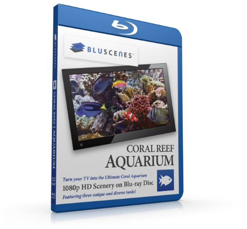 BluScenes: Coral Reef Aquarium 1080p HD Blu-ray Disc [Blu-ray]