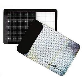 Tonic Studios Tim Holtz Travel Glass Media Mat 10.25″X15.5″, Multi