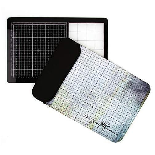 "Tonic Studios Tim Holtz Travel Glass Media Mat 10.25""X15.5"", Multi |"
