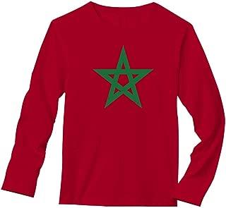 Morocco Flag Vintage Style Retro Moroccan Long Sleeve T-Shirt