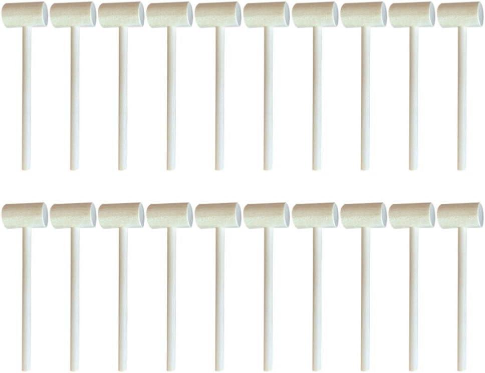 TOYANDONA Sale SALE% OFF 20pcs Mini Diy Wooden Pounding Creat Mallet Regular dealer Hammer Toy