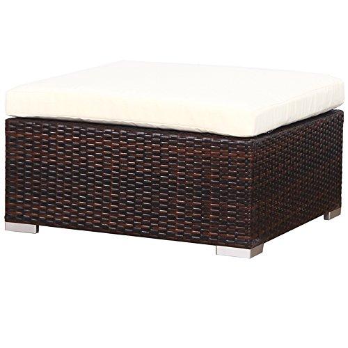 SVITA Lugano Poly Rattan Lounge Garten-Set XXL Sofa-Set Garnitur Gartenmöbel Couch-Set (XXL, Braun) - 4
