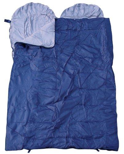 Spacieux Sac de couchage double, sac de couchage pour deux Personnes, différentes couleurs - Bleu