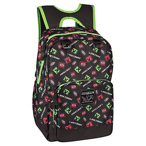 JINX Minecraft Backpack Equipaje infantil 44 centimeters  Negro (Black