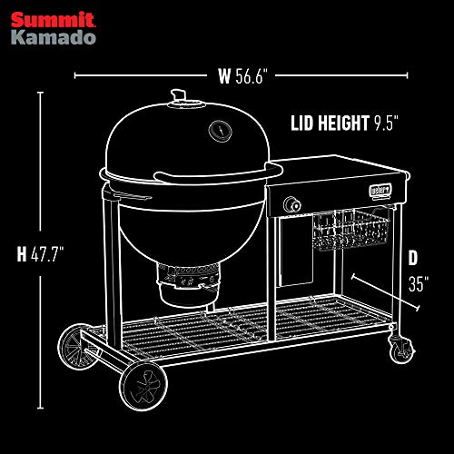 Weber 18501101 Summit Kamado S6 Charcoal Grilling Center, Black