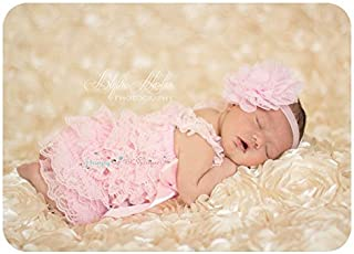 2pcs Baby Pink Petti Lace Romper Set w Extra Headband, Baby Girl Pink Romper Set, Baby Girl Bring Home Outfit