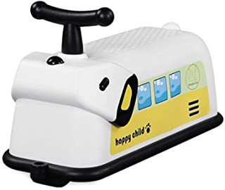 HYYQG 嬰兒平衡自行車,可愛輕量級堅固平衡自行車自行車12-36個月,1 2 3年齡為4輪幼兒,第一個生日黃色的理想禮品選擇