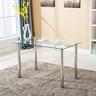 Glass Dining Tables Amazon Com