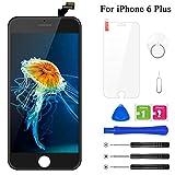 BuTure Kompatibel mit iPhone 6 Plus Display Schwarz, Ersatz Set LCD 3D Touchscreen Digitizer mit Werkzeuge und Displayschutzfolie Für iPhone 6 Plus