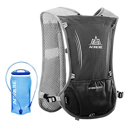 Lixada 5L Outdoor Hydration Pack Backpack with 1.5L Hydration Bladder For Camping Hiking Cycling Sport Bag (Black)