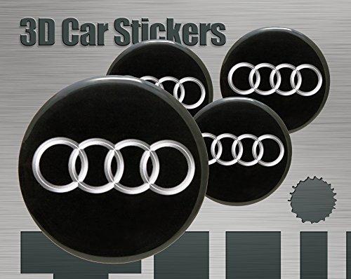 Think Ink 3D Aufkleber 4 STK. Logo Imitation Alle Größen Mittelkappen Radkappen (50 mm)