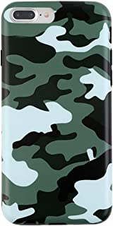 Green Camo iPhone 8 Plus Case/iPhone 7 Plus Case - Premium Protective Cover - Cool Phone Cases for Girls & Men [Drop Test Certified]