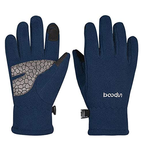 Heren en vrouwen buiten kinderfietshandschoenen dik touchscreen warme handschoenen