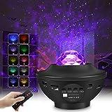 Proyector de Luz Estelar, LED Cambiar Color Reproductor de Música con Bluetooth y Temporizador, Lámpara Luces Nocturnas de Nebulosa Giratorio con Control Remoto, Niños/Decoración/Regalo