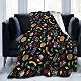 AERICKON Stranger Things Fleece Throw Blanket - Soft Light Weight Blanket for Bed Couch and Living Room Suitable for Fall Winter and Spring (50x40 Inches)