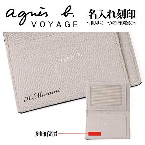 [名入れ可]agnesb.VOYAGE名刺入れカードケースパスケースYW11-04ショップバッグ付(名入れあり,ブラック)