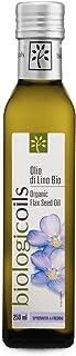 biologicoils オーガニックJAS認証 イタリア産有機アマニオイル 229g (コールドプレス・アマニ油・亜麻仁油・フラックスシードオイル)