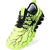 BRONAX Athletic Shoes for Men Jogging Lace up Shooes Green Size 6 Casual Slide on Tennis Running Stylish Fashion Sneakers Shoes