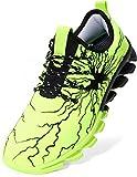 BRONAX Zapatos para Correr Hombre Zapatillas de Deportes Tenis Deportivas Running Calzado Trekking Sneakers Gimnasio Transpirables Casual Montaña Verde 44