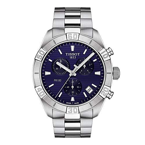 Tissot orologio PR 100 Sport Gent Chronograph 44mm blu quarzo acciaio T101.617.11.041.00