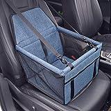 RuiXi Seggiolino Auto per Cane Coprisedile per Cane Animale Borsa Anteriore Singolo Coperta Telo per Proteggere Sedile di Automobile Impermeabile (Blu)