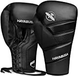 Hayabusa T3 Boxing Gloves for Men and Women - Black, 16 oz