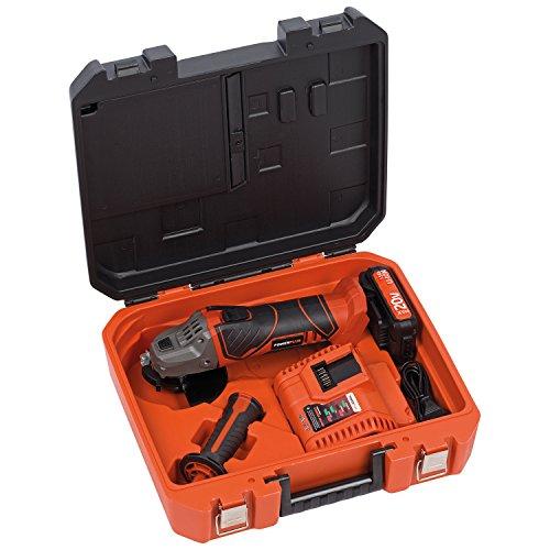 PowerPlus POWDP3515 - Amoladora Angular 20V + Cargador + Batería 20V