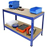Work Bench Garage Table/Metal Storage Shelving DIY Tools Heavy Duty Workbenches Workshop Shed