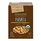 Mantova Italian Organic Whole Wheat Spirali Pasta - 100% Durum Semolina Organic Whole Wheat Spirali - 16 Oz - Product Of Italy, 1 Pound (Pack of 12)