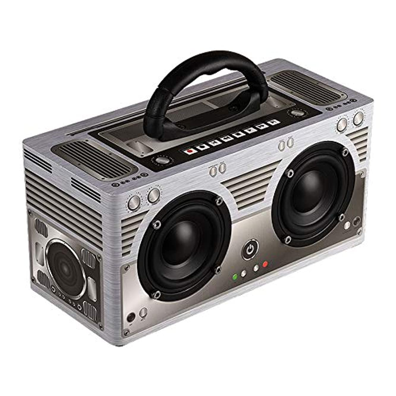 NFY Wooden Bluetooth 4.2 Speaker 20W Subwoofer Wireless Portable Handsfree Retro Loudspeaker Box FM Radio 3000Mah TF Boombox