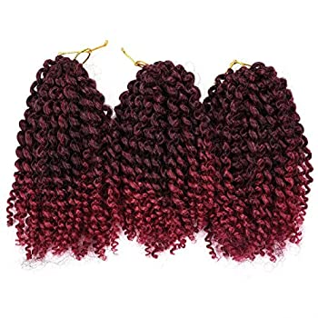 Silike Silky Ombre Marlybob Kinky Curl Jerry Curl Crochet Braids  3 Bundles/pack  8   Curly Wave Crochet Braiding Hair For Women  T1B/BUG