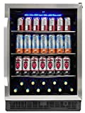 Silhouette SBC057D1BSS Built In Beverage Center, Under Counter Single Zone Beverage Cooler For Wine,...