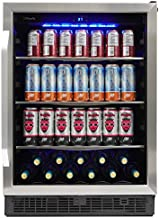 Silhouette SBC057D1BSS Built In Beverage Center, Under Counter Single Zone Beverage Cooler For Wine, Beer - In Stainless Steel Look - For Kitchen, Home Bar