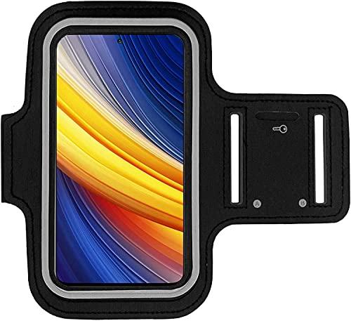 KP TECHNOLOGY Xiaomi Poco X3 Pro Brazalete Case - Para Correr, Ciclismo, Senderismo, Piragüismo, Caminata, Equitación y otros Deportes para Xiaomi Poco X3 Pro (Blanco)