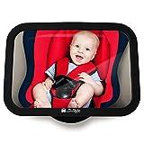 Rücksitzspiegel fürs Baby, Bruchsicherer Auto-Rückspiegel für Babyschale, Autositz-Spiegel ohne Einzelteile, für Kinder in Kinderschale, Kindersitz, Babysitz, Reboarder in universeller...