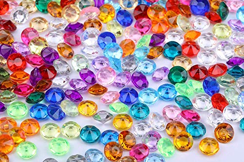2000 pcs/Pack Wedding Table Scatter Confetti Crystals Acrylic Diamonds 8 mm Rhinestones for Wedding, Bridal Shower, Fish Bowl Beads, Vase Beads Decorations (8mm, Multi-Color)