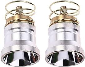 LIOOBO 2pcs LED Flashlight Bulbs Ultra Bright 1000 Lumens Flashlight Repair Parts Torch Replacement Bulb (Silver)