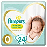 Pampers Premium Protection New Baby Windeln, 1,5-2,5 kg, 24 Windeln, Größe 0