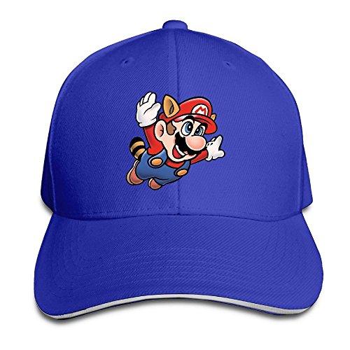 Huseki Hotgirl4 Adult Flying Super Mario Bros Adjustable Baseball Cap Black RoyalBlue