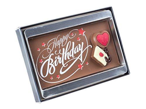 Tableta de chocolate - Feliz cumpleaños con una tarjeta - 75 g