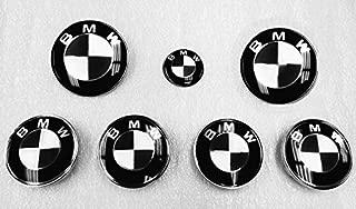 MATTE BLACK Sticker Overlay Vinyl for All BMW Emblems Caps Logos Roundels