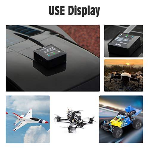 Goolsky Leistungsanalysator für RC Auto Flugzeug Hubschrauber FPV Drohne G-Kraft Messung / Höchstgeschwindigkeit / Durchschnittsgeschwindigkeit / Entfernung GPS RC Spielzeug Geschwindigkeitsmesser