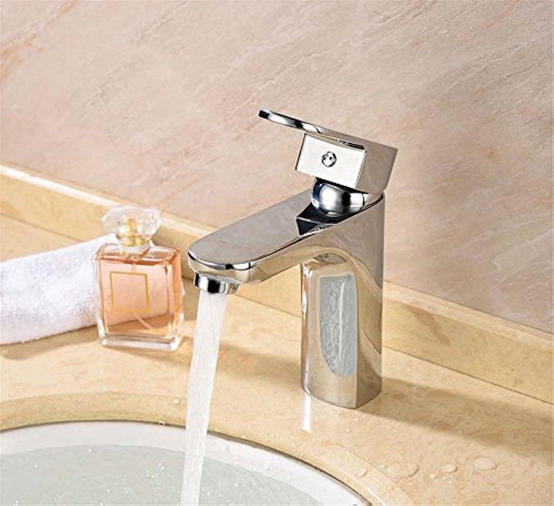 Moderne einfacheKupfer hei und kalt Spülbecken Wasserhhne Küchenarmatur Warmes und kaltes Becken Vollkupferhahn Einlochmontage Einhand-Aufsatzbecken Mischbatterie Geeignet für Badezimmer-Spülbecken