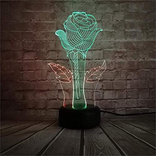 ilusión 3D LED Lámpara de Escritorio Mixed ideal como regalo de cumpleaños para niños, niños y hombres Con interfaz USB, cambio de color colorido