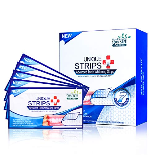 Teeth Whitening Strips Pack of 28 Pcs White Strips Individual Strips Kits Whitestrips Remove Stains and Whiten Teeth in 1 Hour