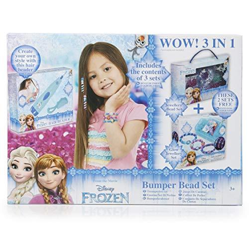 Disney Frozen Eiskönigin Bastel Set Für Mädchen, Haarschmuck-Zubehorteile Mädchen Set, Freundschaftsarmband Kinder Armbänder Mädchen, Geburtstagsparty Schmucke, Geschenke Für Mädchen 4 Jahre